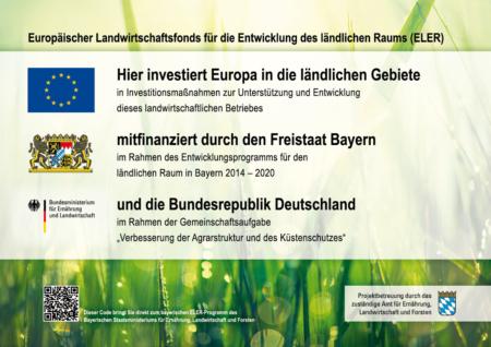 """Förderung durch: Logo des ELER """"Eurpäischer Landwirtschaftsfonds für die Entwicklung des ländlichen Raums"""""""