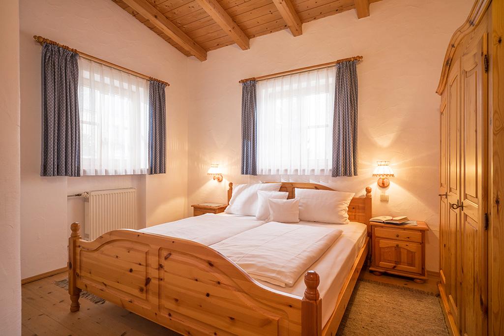Schlafraum in Ferienwohnung in Kiefersfelden Oberbayern